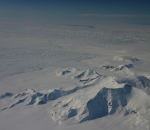 Ice melting glaciers