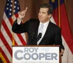 Governor-elect Roy Cooper at a victory rally