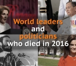 Politicians and world leaders who died in 2016