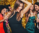 Beautiful woman dancing at a party