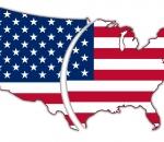 Divided USA flag map