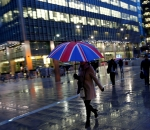 UK umbrella in Canary Wharf