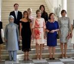 Gauthier Destenary poses with Melania Trump