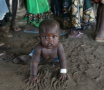 refugee child from South Sudan