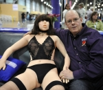 Roxxxy sex doll with founder Douglas Hines