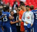 Chelsea players celebrating