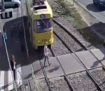 Tram accident mobile phone