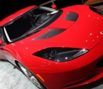 The Lotus Evora seen from the front at the New York International Auto Show 2012.
