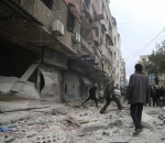 Syria Aleppo bombing